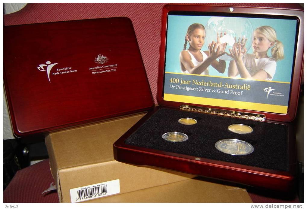 NEDERLAND  PRESTIGESET AUSTRALIE 2006 €5 Zilver €10 Goud, $1 Zilver $10 Goud SCHAARS OPL.750 STUKS - Nederland