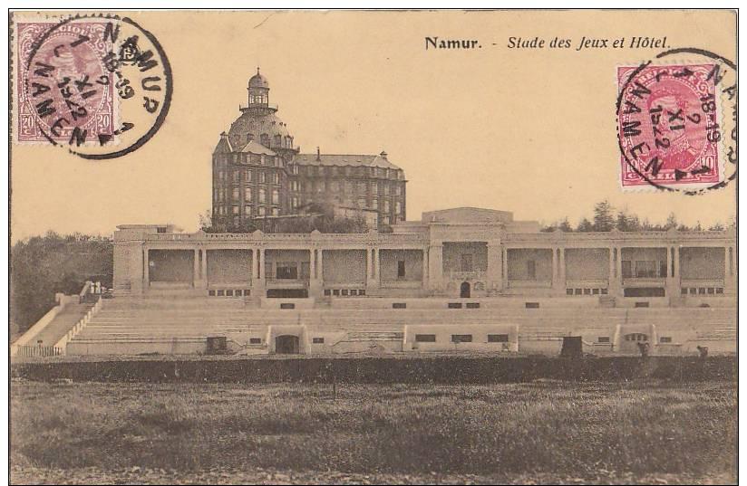 CPA BELGIQUE NAMUR Stade Sport Stadium Des Jeux Et Hôtel 1922 - Namur