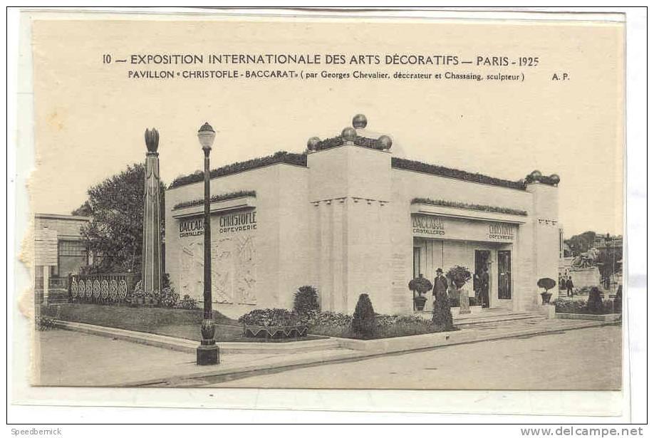 12698 Exposition Internationale Arts Decoratifs Paris 1925 Christophe Baccarat Chassaing. AP 10 - France