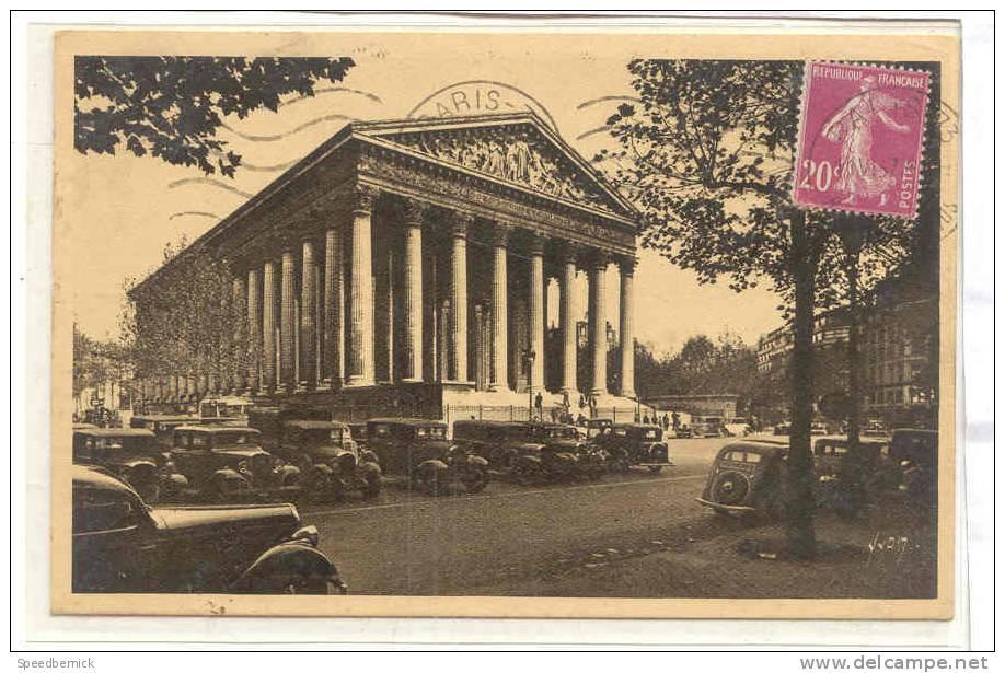 12680 Paris Eglise Eglise Madeleine . 2 Yvon Voiture - France