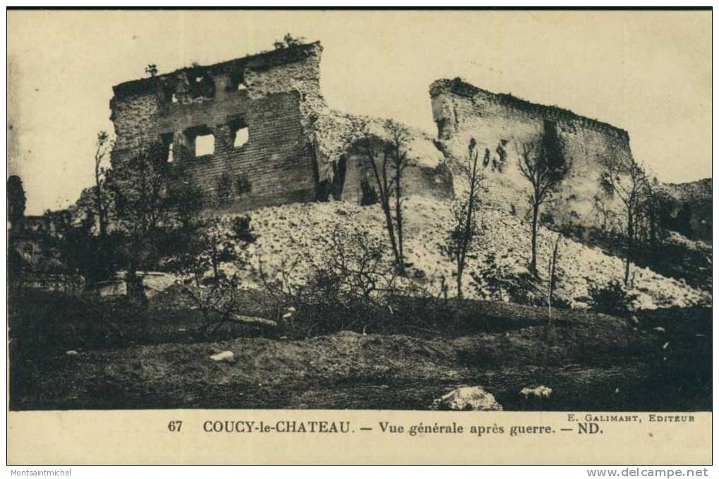 Coucy-le-Château. Aisne 02. Vue Générale Aprés Guerre. - France