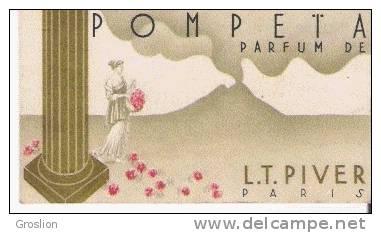 POMPETA CARTE PARFUMEE ANCIENNE DE L T PIVER PARIS - Perfume Cards
