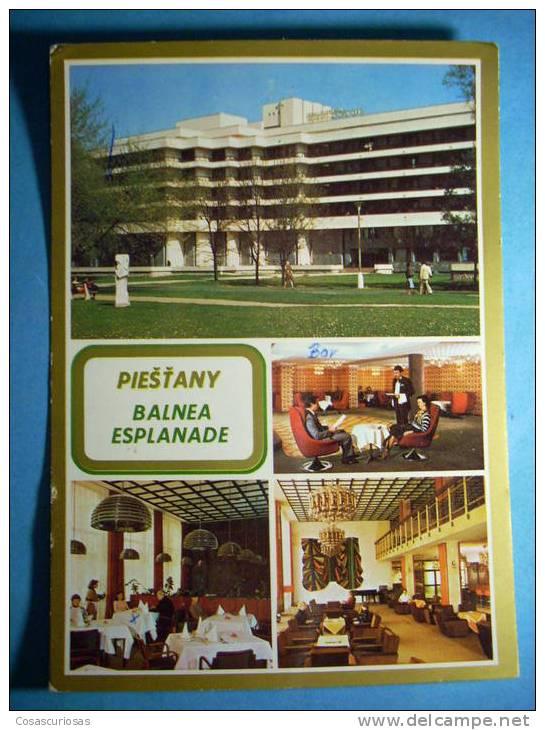 R.8948  CHECOESLOVAQUIA  CESKOSLOVENSKO  PIESTANY  BALNEA ESPLANADE  AÑOS 60/70  CIRCULADA  MAS EN MI TIENDA - Postales