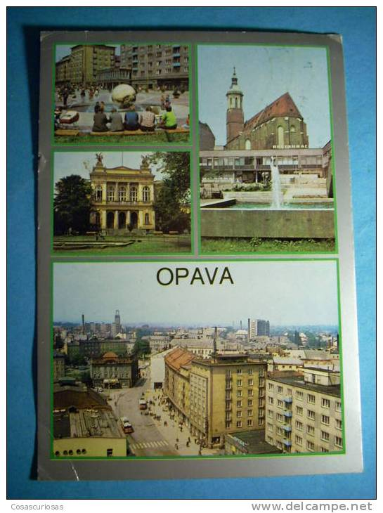R.8996  CHECOESLOVAQUIA  CESKOSLOVENSKO  OPAVA  AÑOS 60/70  CIRCULADA  MAS EN MI TIENDA - Postales