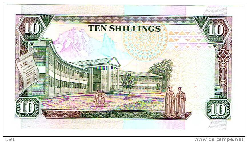 "10 Shilingi Kumi   ""KENYA""   1er Janvier  1994    P24f   UNC  Ro42. - Kenya"