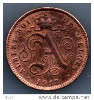 Belgique 2 Cts  1912 Légende Française Ttb+ - 02. 2 Centimes