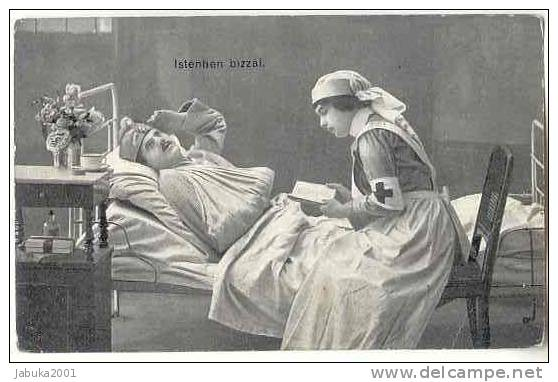 MILITARY WWI RED CROSS NURSE  OLD POSTCARD  #046 - Red Cross