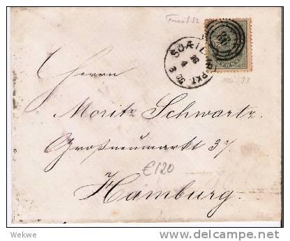 DK-C9021/ Duplex 86 Auf Mi. 33, Facit 52, Hamburg 1883 - 1864-04 (Christian IX)