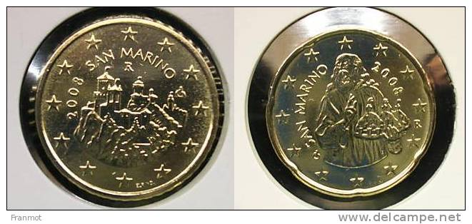 20ct + 50ct Saint Marin 2008, UNC - San Marino