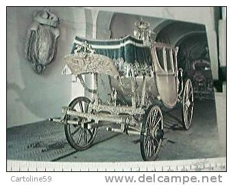 NAPOLI MUSEO CARROZZA  QUELLA DI AIA CRISTINA DI SAVOIA XVIII° N1980 BL12964 - Taxi & Carrozzelle