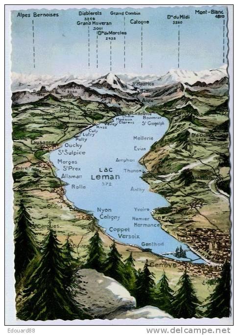 LAC LEMAN - Cartes Géographiques