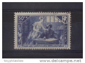 France (chomeurs Intelectuels) N°307 Oblitéré - Gebraucht