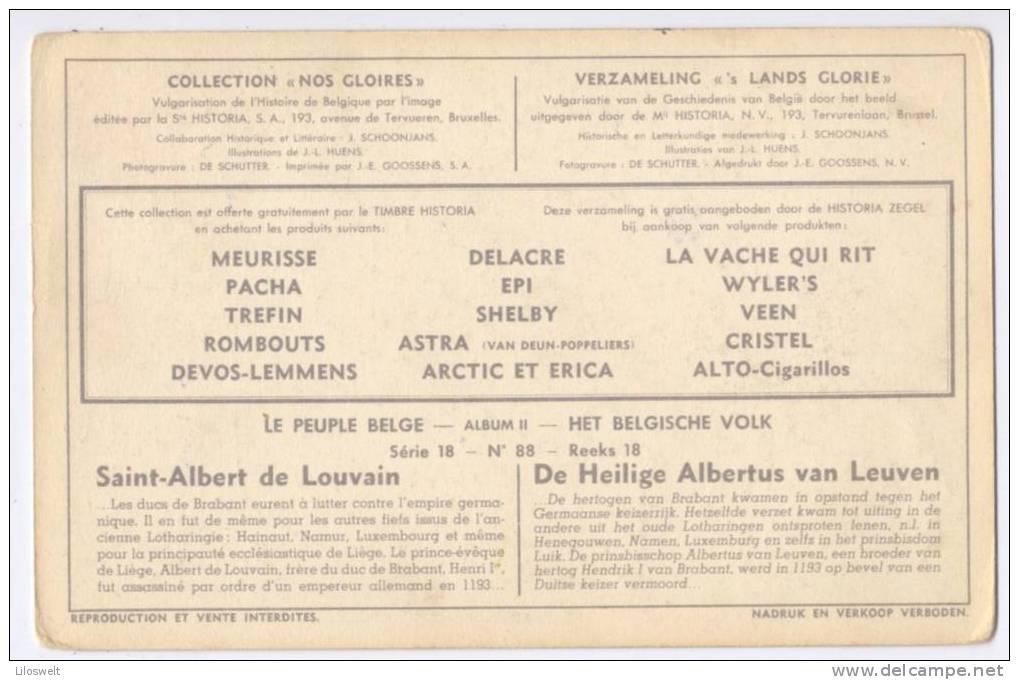 """Collection """"NOS GLORIES"""" Le Peuple Belge Serie 18 No 88 Saint-Albert De Louvain - Artis Historia"""
