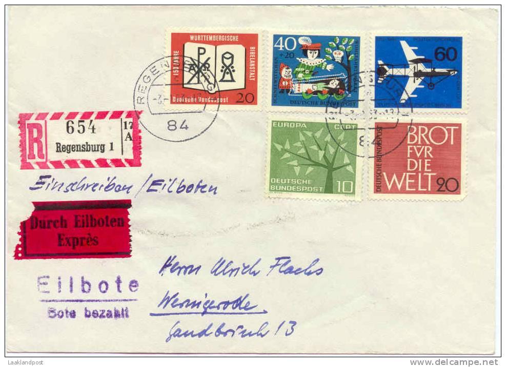 BRD Registered Cover Regenburg Michel 382, 388 ... - [7] West-Duitsland