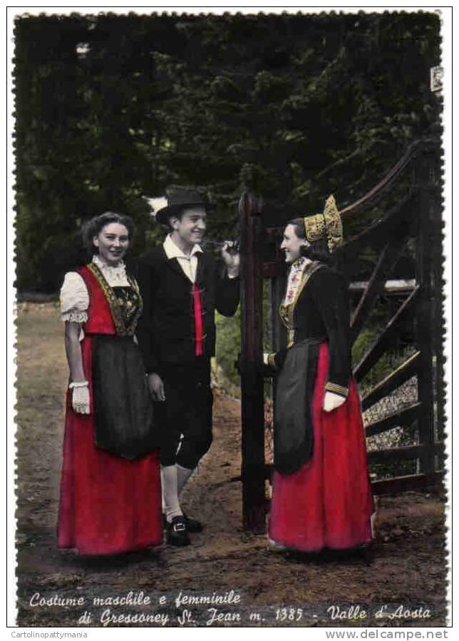 Costume Maschile E Femminile Di Gressoney St. Jean Valle D'aosta - Costumi
