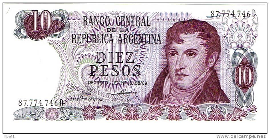 """10 Pesos     """"ARGENTINE""""     UNC      Ro71 - Argentina"""