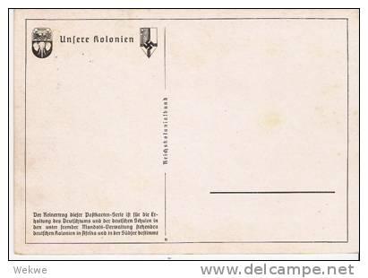 DTK074/ Dt. Kamerun Buntkarte, Viktoria Am Kl. Kamerunberg - Kolonie: Kamerun