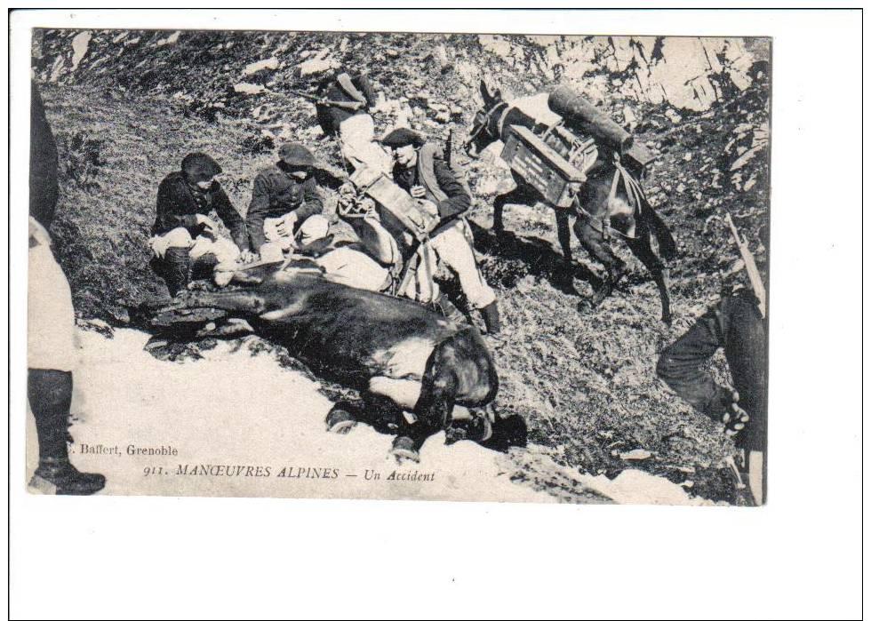 911.  MANOEUVRES  ALPINES   -   Un  Accident - Manovre