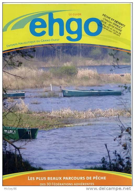 Pêche---Guide  EHGO---Parcours De Peche---36 Pages Couleur  Papier Glacé - Chasse/Pêche