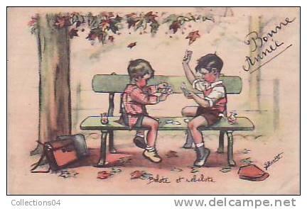 CARTES A JOUER / BELOTE ET REBELOTE /G.BOURET / CPA /A ENCADRER ! / - Cartes à Jouer