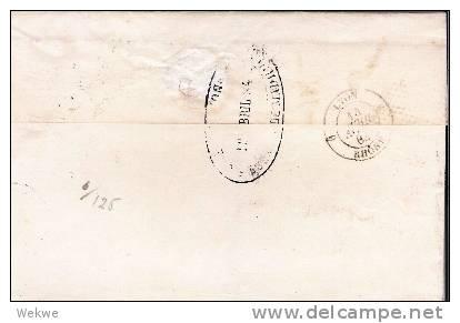Spk048/  - SPANIEN - Brief Ex Madrid Edifil 204a Bahnpost (TPO) Nr. 7 (Norte) Nach Lyon 1884 - Briefe U. Dokumente