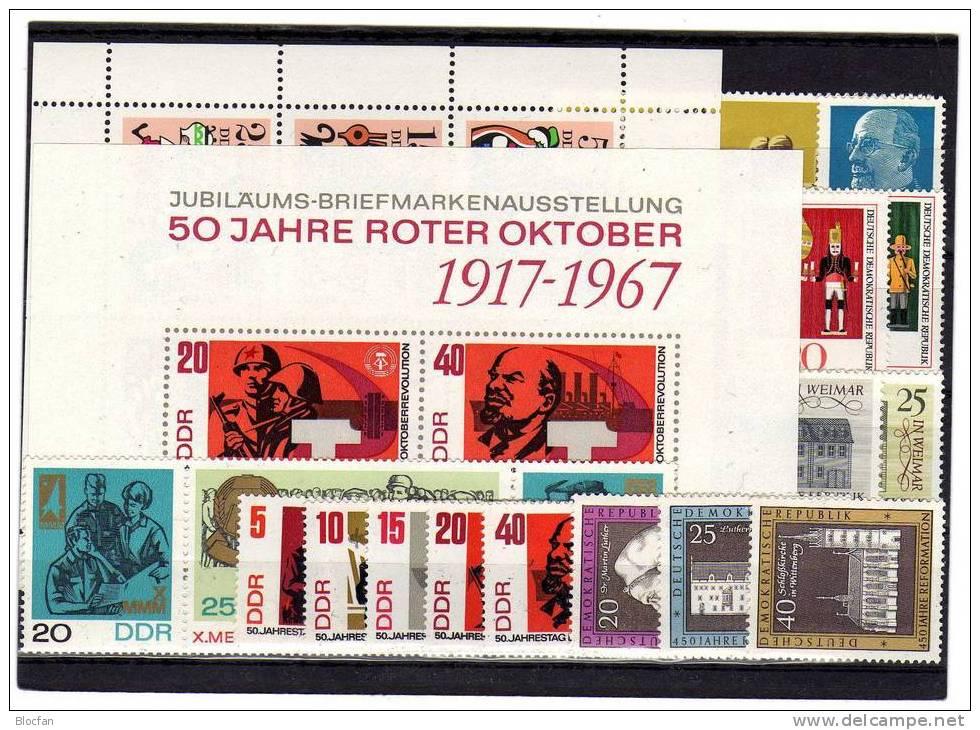 DDR ** 1245/0-1333/4 Jahrgang 1967 Bauwerke Bis Nußknacker 27 Ausgaben 68€ - Stamps