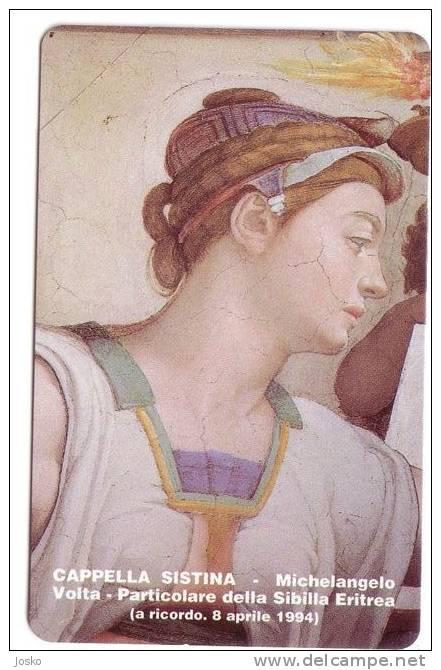 VATICAN - SCV 5  ( RARITY !!!   OLD And SUPER RARE MINT Card ) * Michelangelo Volta - CAPELLA SISTINA - Sibilla Eritrea - Vatican