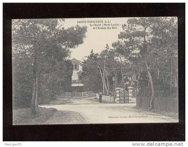 """Pornichet Ste Marguerite Le Chalet """"marie-louise"""" & L'avenue Des Bois   Belle Carte édit.carlot Villa - Pornichet"""