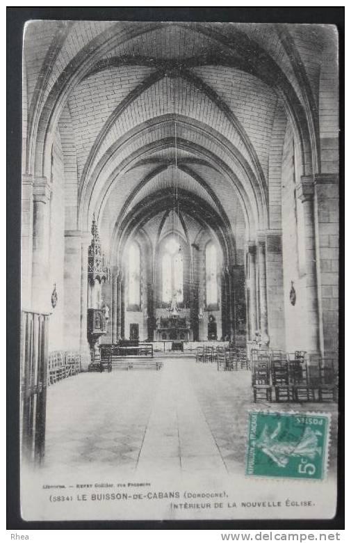 24 Le Buisson-de-Cadouin Interieur Eglise    D24D  C24068C RH055948 - France