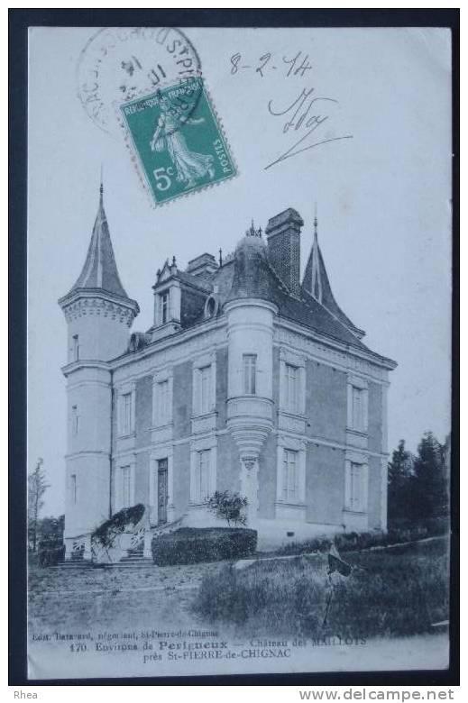 24 Saint-Pierre-de-Chignac Chateau    D24D  K24484K  C24484C RH056234 - France