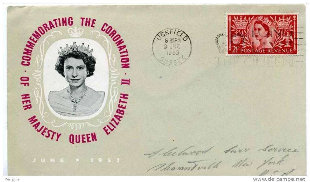 1953  Elizabeth II Coronation Souvenir Cover June 2, 1953 - 1952-.... (Elizabeth II)