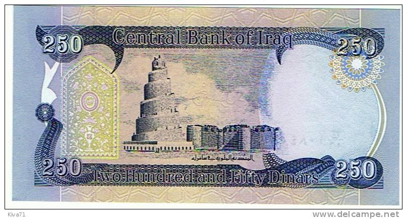 """250 Dinar   """"IRAQ""""       UNC     Bc0 - Iraq"""