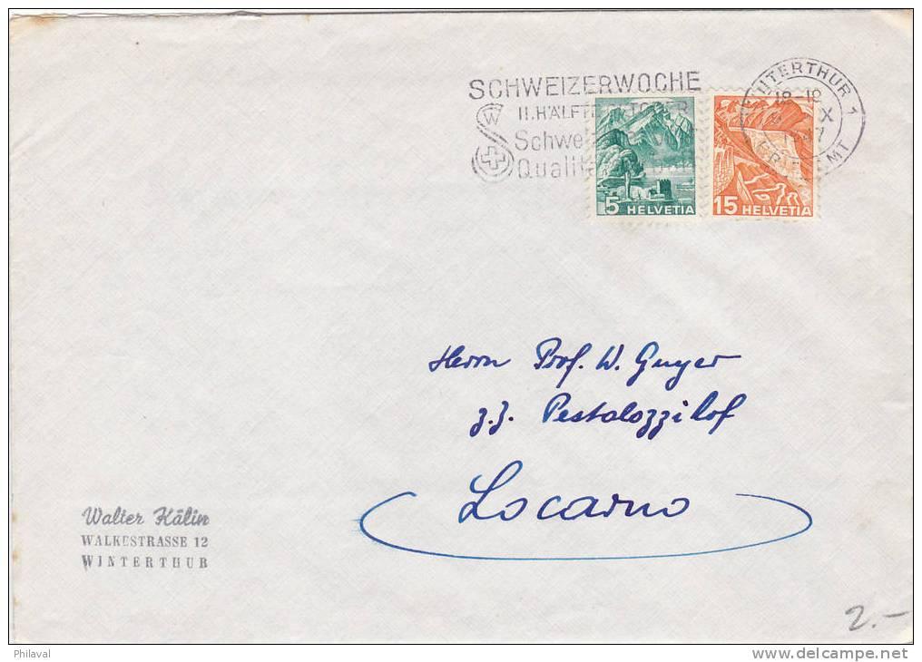 Lettre Oblitérée Le 9.X.1947 - Suisse