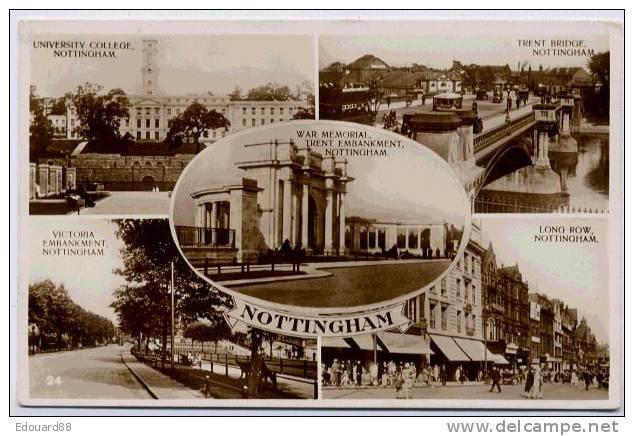 NOTTINGHAM  CARTE MULTIVUES - Nottingham