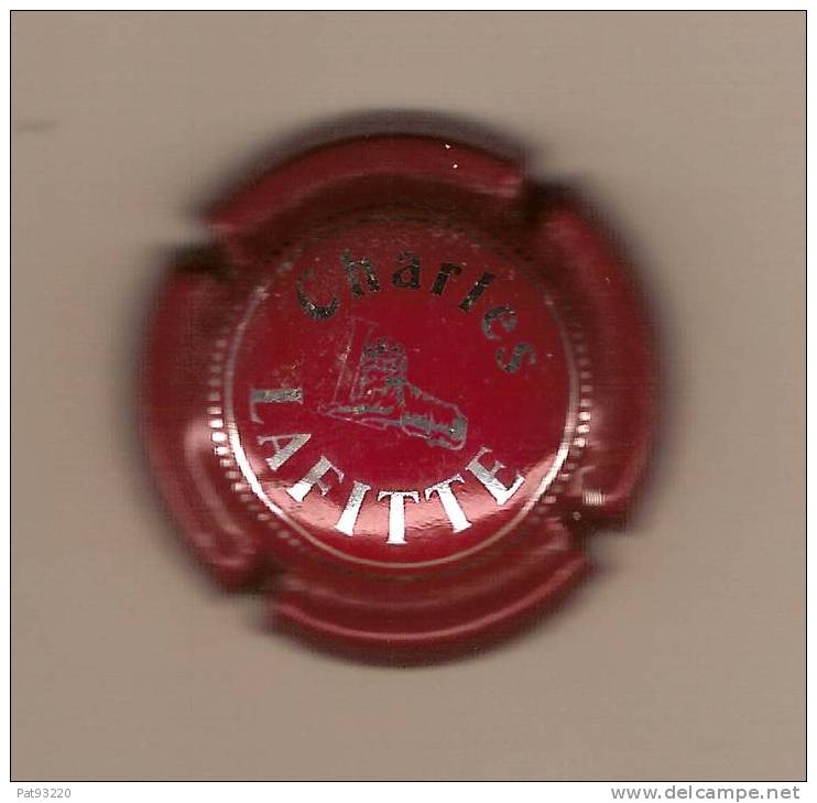 CAPSULE CHAMPAGNE : Charles LAFITTE  Or Sur Fond Rouge  / T.B.E. - Lafitte, Charles