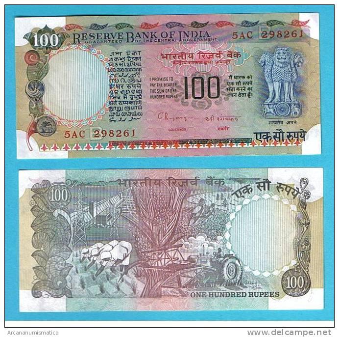 INDIA  100  RUPIAS  1.979  KM#86 H     SC/UNC/PLANCHA       DL-6567 - India