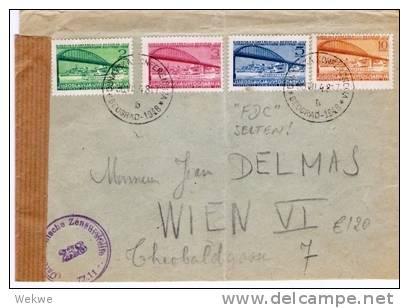 Yu019b/  JUGOSLAWIEN -  Brief,  Donau-Konferenz 1948 (Europa) Brücke, Als FDC SELTEN - 1945-1992 Socialist Federal Republic Of Yugoslavia