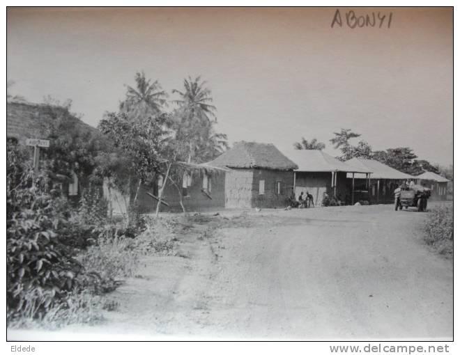 Real Photo Abonyi Village No Postcard Back Dos Non Carte Postale - Gambie