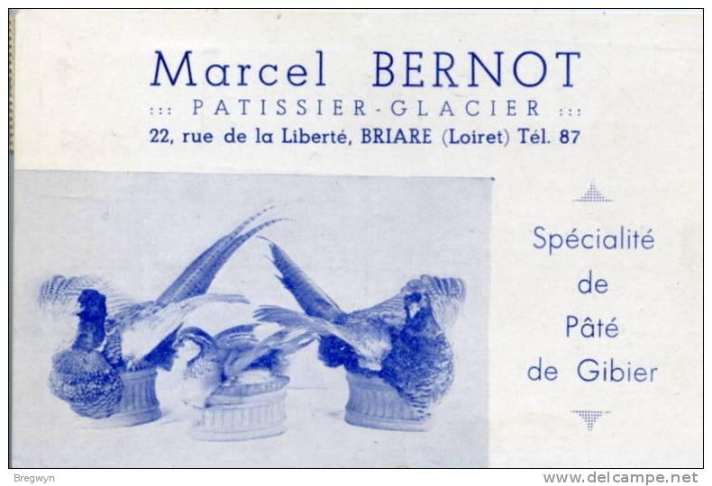 45 - CPSM Publicitaire - Briare - Marcel Bernot, Patissier Glacier - Briare