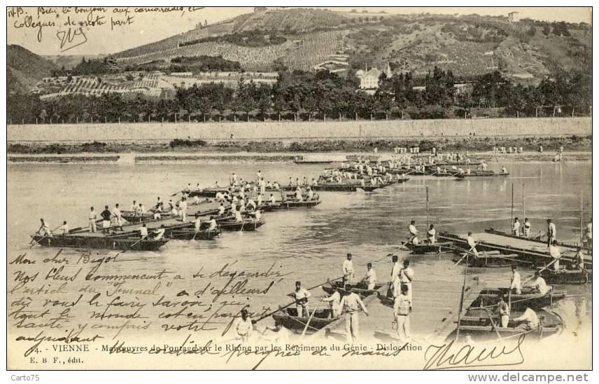 Militaria - Manoeuvres - Ponts - Manovre
