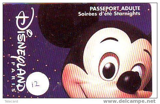 Walt Disney France FRANKRIJK Op Passeport Pasport Toegangspas (12) - Disney