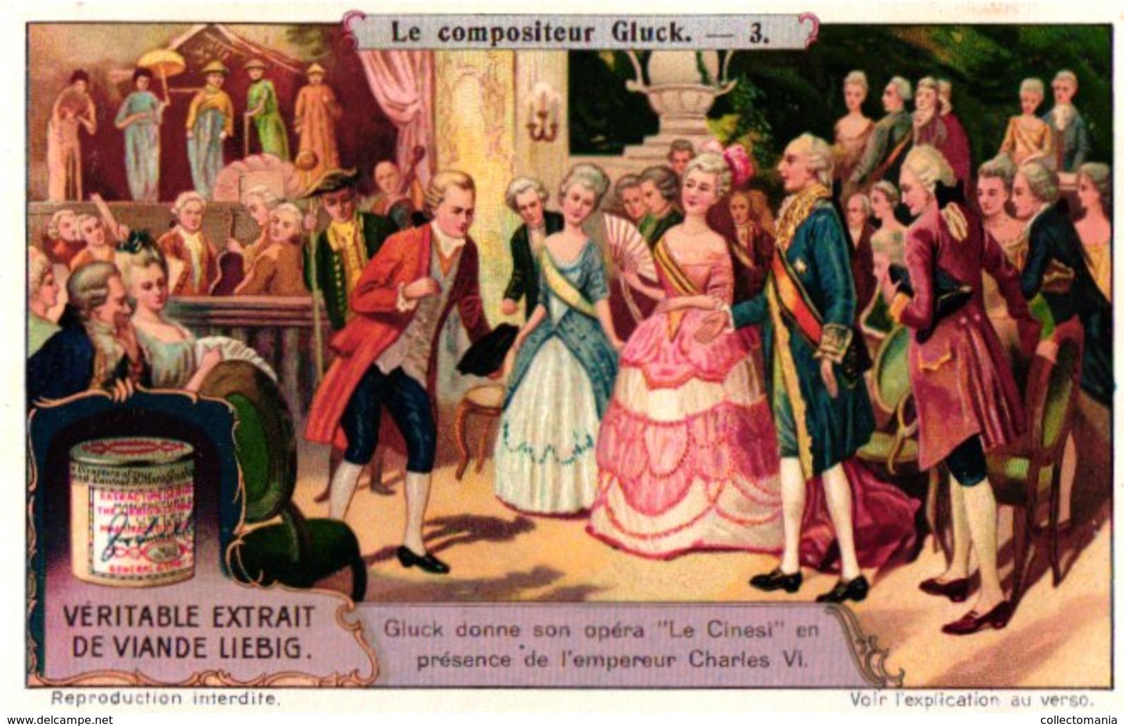 1114 Le Compositeur Composer Gluck - MINT - Als Nieuw - Wie Neu - Parfait état - Chromo Litho Music Liebig - Liebig