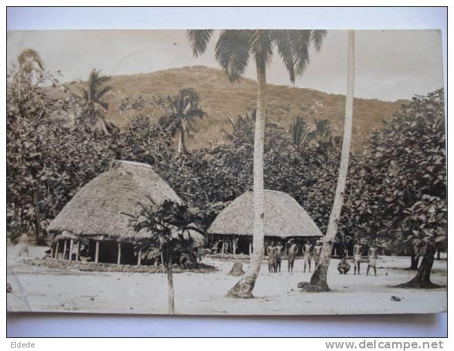Real Photo Western Samoa Postally Used Apia  1938 Condition Poor Defects Left Side - Samoa