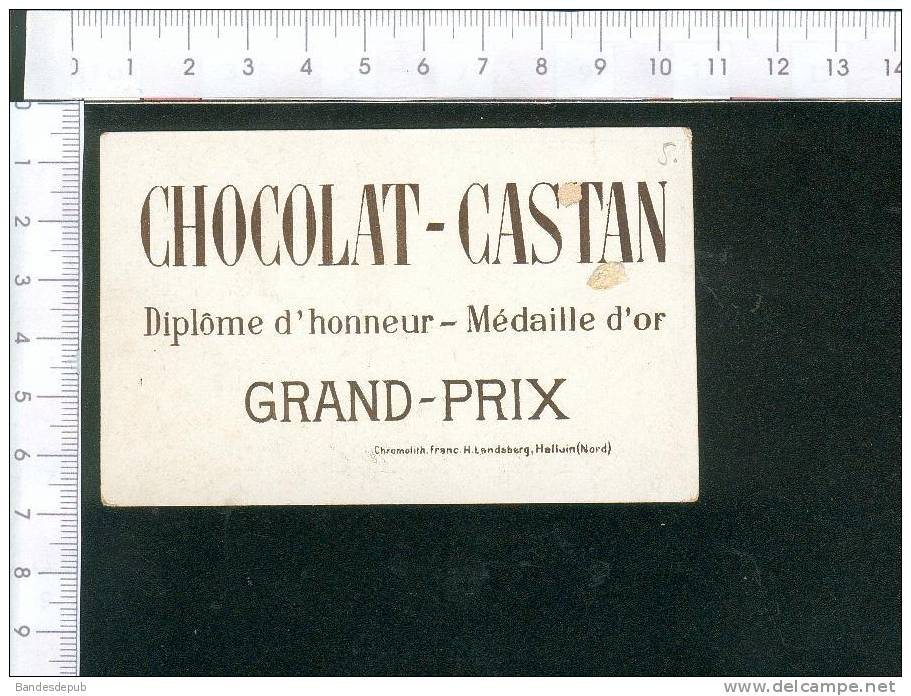 Chocolat Castan Chromo   Thème  Enfant Pêche à La Ligne - Zonder Classificatie