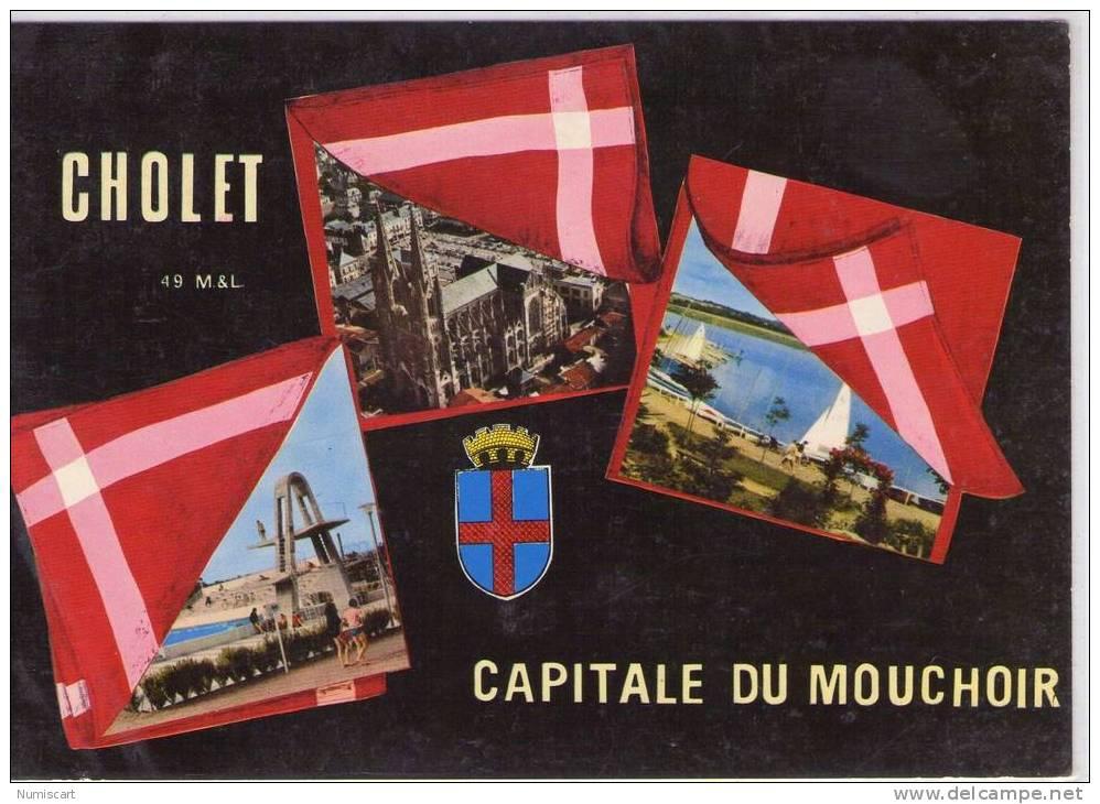 CPM  ......CHOLET     CAPITALE DU MOUCHOIR BELLE MULTI-VUES - Cholet