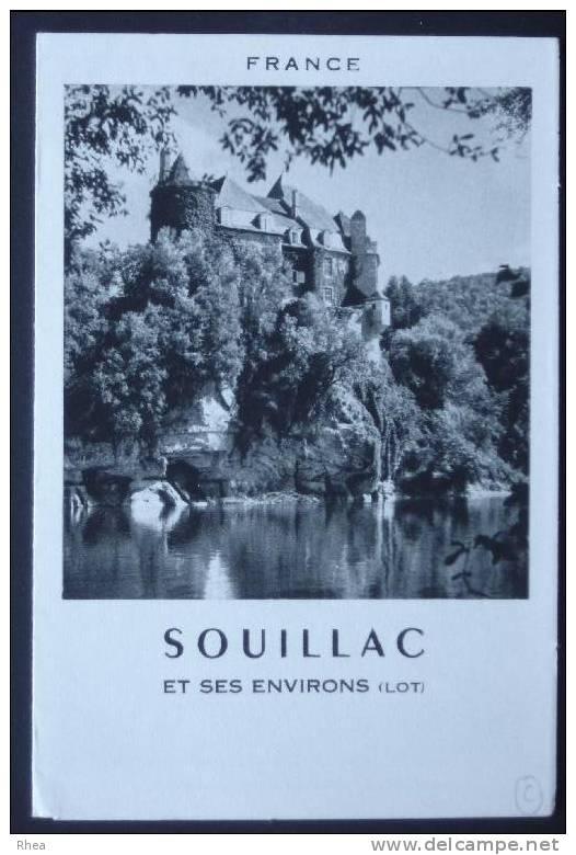 46 Souillac Chateau Dépliant Touristique    D46D  K46309K  C46309C RH057147 - Publicités