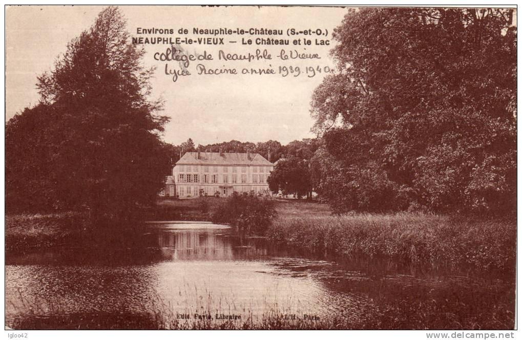 NEAUPHLE LE VIEUX - Le Château Et Le Lac - France