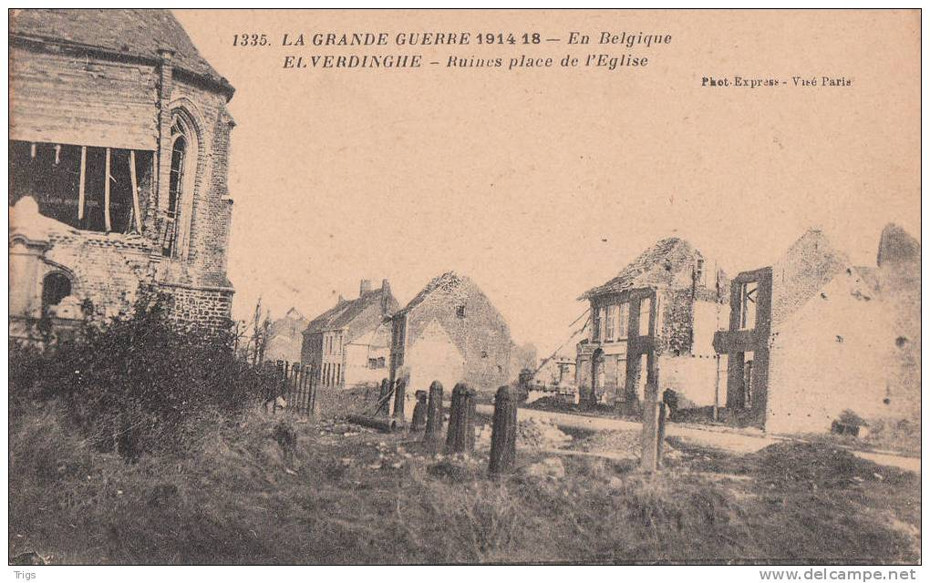 Elverdinghe - Ruines Place De L'Église - Ieper