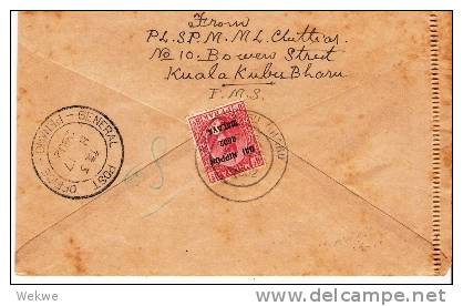 JG029/ JAPANISCHE BESETZUNG MALAYSIA - Lettercard,  Dai Nippon 2602  Zudruck Auf Perak-Marke 1942 (Brief, Lettre, Cover) - Ocupacion Japonesa