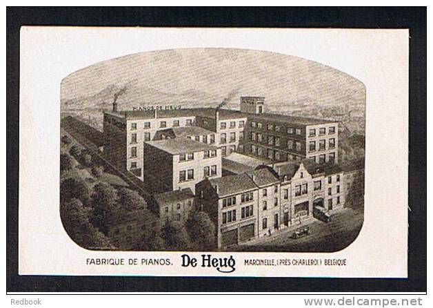 Super Early Advertising Postcard Music Theme - Fabrique De Pianos DE HEUG Pres Charleroi Belgium - Ref 288 - Advertising